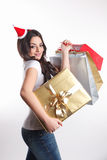 Beautiful woman holding presents Royalty Free Stock Photo