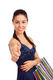 Beautiful woman holding shopping bags Royalty Free Stock Photos