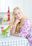 Beautiful woman at home Royalty Free Stock Photo