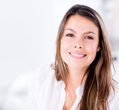Beautiful woman at home Stock Images