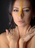 Beautiful woman with honey mask Royalty Free Stock Image