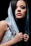 Beautiful woman in hood Royalty Free Stock Photography