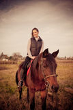 Beautiful woman with horse Stock Photos