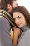 Beautiful woman hugging man Royalty Free Stock Photography