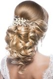 Beautiful woman in image of the bride. Beauty royalty free stock photography