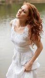 Beautiful Woman In Lake Royalty Free Stock Photo