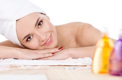 Beautiful Woman In Spa Salon Stock Images