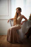 Beautiful woman in the interior Royalty Free Stock Photos