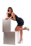 Beautiful woman on the isolated background Royalty Free Stock Photos