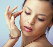 Beautiful woman with jewellery Stock Photo