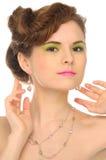 Beautiful woman with jewelry Stock Image