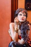Beautiful woman with jewelry Stock Photos