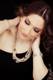 Beautiful woman. Jewelry Stock Photography
