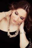Beautiful woman. Jewelry Stock Photography