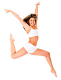 Beautiful woman jumping Stock Image