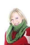 Beautiful woman keeping warm in winter Stock Image