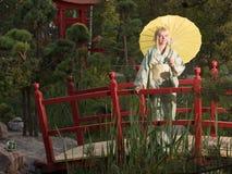 Beautiful woman in kimono Stock Photography