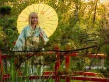 Beautiful woman in kimono Royalty Free Stock Photo