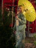 Beautiful woman in kimono Stock Image