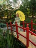 Beautiful woman in kimono Royalty Free Stock Photos