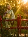 Beautiful woman in kimono Stock Photo