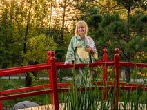 Beautiful woman in kimono Royalty Free Stock Image