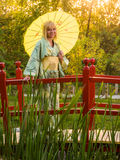 Beautiful woman in kimono Royalty Free Stock Photography