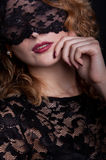 Beautiful woman with lace mask Royalty Free Stock Photography