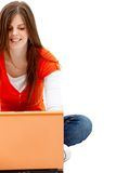 Beautiful woman with a laptop Stock Photo