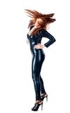 Beautiful woman in latex costume Royalty Free Stock Images