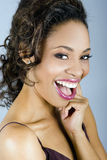 Beautiful woman laughing Royalty Free Stock Photography