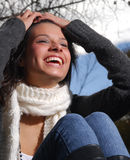 Beautiful Woman Laughing Royalty Free Stock Photo