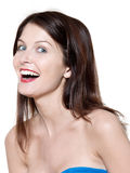 Beautiful woman laughing portrait Royalty Free Stock Photo