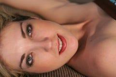 Beautiful woman laying down Royalty Free Stock Photo