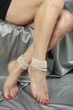 Beautiful woman   legs Stock Images
