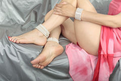 Beautiful woman   legs Stock Photography