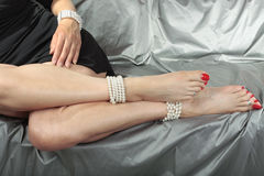Beautiful woman  legs Royalty Free Stock Images