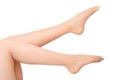 Beautiful woman legs. On a white background Stock Photo