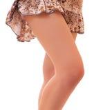 Beautiful woman legs isolated Stock Image