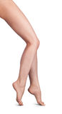 Beautiful Woman Legs ower White Stock Photography
