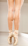 Beautiful woman legs with tiptoe Stock Images