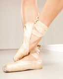 Beautiful woman legs with tiptoe. Ballerina with tiptoe. Studio shot Royalty Free Stock Images
