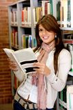 Beautiful woman at the library Royalty Free Stock Image