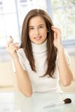 Beautiful woman with lipstick Royalty Free Stock Image