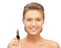 Beautiful woman with lipstick Royalty Free Stock Photos