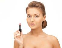 Beautiful woman with lipstick Royalty Free Stock Image