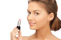Beautiful woman with lipstick Royalty Free Stock Photo
