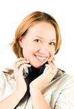 Beautiful woman listening music Royalty Free Stock Photo