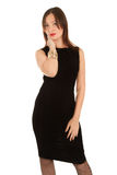 Beautiful woman in little black dress Stock Photo