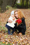 Beautiful woman with little daughter Royalty Free Stock Images